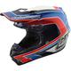 White/Blue Squadra SE4 Carbon Helmet