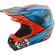 Blue/Orange McQueen SE4 Composite Helmet