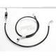Black XR Stainless Extreme Response Front Brake Line Kit - w/ABS Stock Length & +4