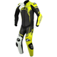 Black/White/Flo Yellow GP Plus 1-Piece Leather Racing Suit