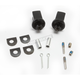 Gloss Black Splined Front Peg Adapter Mount - 8862
