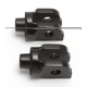 Satin Black Splined Peg Adapter Mount - 8872
