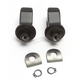 Satin Black Splined Front Peg Adapter Mount - 8893