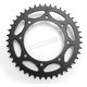 Induction Hardened Black Zinc Finished 520 43 Tooth Rear Sprocket - JTR487.43ZBK
