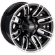 Front Gloss Black 12x7 Wheel - 0230-0872