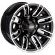 Front Gloss Black 12x7 Wheel - 0230-0873