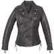Women's Leather Lace-Up Jacket