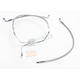 Natural XR Stainless Extreme Response Front Brake Line Kit - Non ABS Stock Length - SSC1304-19