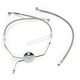 Natural XR Stainless Extreme Response Front Brake Line Kit - Non ABS Stock Length - SSC1307-19