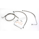 Replacement Stainless Steel Brake Line Kit for use w/Beach Bars, Extra Wide or Extra Wide w/Pullback Handlebars w/ABS - LA-8151B04