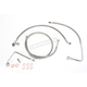 Replacement Stainless Steel Braided Brake Line Kit for use w/ Mini Ape Hangers w/ABS - LA-8151B08