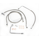 Replacement Stainless Steel Braided Brake Line Kit for use w/12