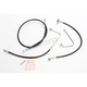 Black Vinyl Coated Replacement Brake Line Kit for Use w/Mini Ape Hangers w/ABS - LA-8151B08B