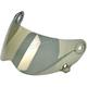 Gold Mirror Face Shield for Lane Splitter Helmet - FS-GLD-LS-SD