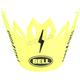 Fluorescent Yellow/Black Visor for Moto-9 Fasthouse Helmet - 7086424
