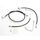 Black Vinyl Coated Replacement Brake Line Kit for Use w/12