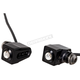 Black Single Rat Eye LED Turn Signals w/Amber Lights - 05-206-AB