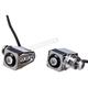 Chrome Single Rat Eye LED Turn Signals w/Red Lights - 05-206-RC