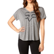 Women's Heather Gray Responded V-Neck T-Shirt
