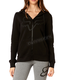 Women's Black Certain Zip Hoody