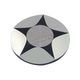 Chrome/Black Ray Star Gas Cap - 80030