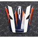 Visor for Navy/Orange Sector Ricochet Helmet - 0132-1133