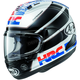 Black/Red/White Corsair-X HRC Helmet