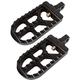 Black Long Serrated Footpegs - 08-56-5B