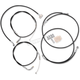 Black Vinyl Handlebar Cable and Line Kit For Use w/10