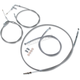 Stainless Steel Handlebar Cable and Line Kit For Use w/15