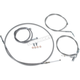 Stainless Steel Handlebar Cable and Line Kit For Use w/18