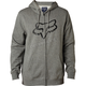 Heather Graphite Legacy Fox Head Zip Hoody