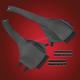 Saddlebag Lid Bra - V30-203BK
