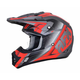 Frost Grey/Red FX-17 Force Helmet
