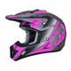Frost Grey/Fuchsia FX-17 Force Helmet