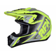 Matte Neon Yellow/Silver FX-17 Force Helmet