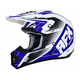 Pearl White/Blue FX-17 Force Helmet
