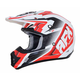 Pearl White/Red FX-17 Force Helmet