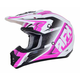 Pearl White/Fuchsia FX-17 Force Helmet