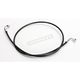 Black XR Stainless Extreme Response Front Brake Line Kit w/o ABS - Stock Length - SBC0602-48