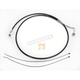Black XR Stainless Extreme Response ABS Upper Brake Line Kit - Stock Length - SBC1401-64