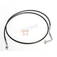 Black XR Stainless Extreme Response ABS Upper Brake Line Kit - +4