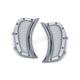 Chrome Mesh Headlight Vent Accents - 6518