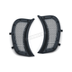 Satin Black Mesh Headlight Vent Accents - 6519