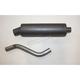 Black Utility Slip-On Muffler - AT 7105UT