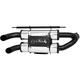 Dual Stack PowerTech 4 Slip-On Muffler - AT 9515PT