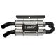 Dual Stack PowerTech 4 Slip-On Muffler - AT 9516PT