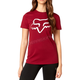 Women's Dark Red Cerain Crew T-Shirt