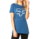 Women's Dusty Blue Cerain Crew T-Shirt