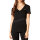 Women's Black Hinter V-Neck T-Shirt